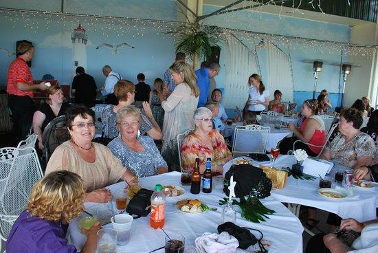 تاواز باي بيتش ريزورت: The beach patio for coctail hour