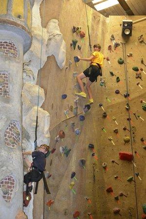 Adventure Zone: 2 views of the many climbing walls
