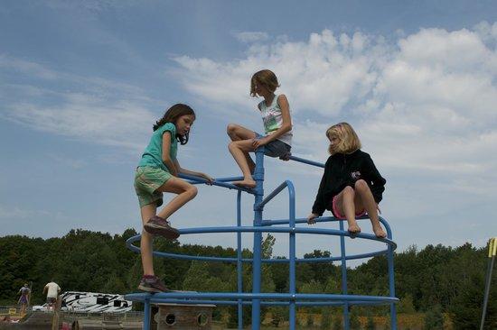 Traverse City KOA: Climbing at the Playground
