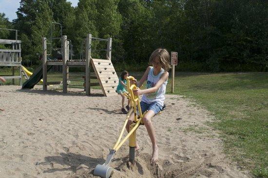 Traverse City KOA: Digging at Playground