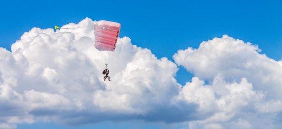 Corse Parachutisme Tandem : en vol