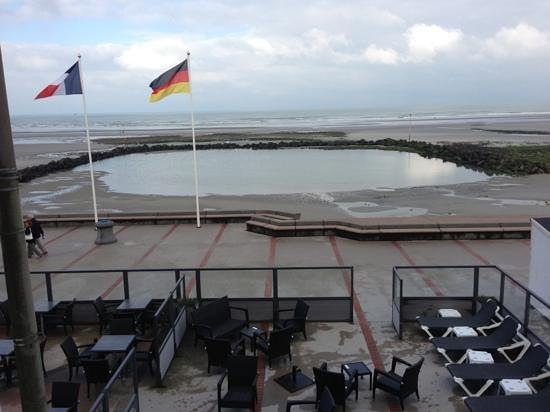 Hotel Atlantic : la terrasse sur plage