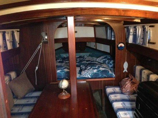 La Grange Bretagne : l'intérieur du bateau