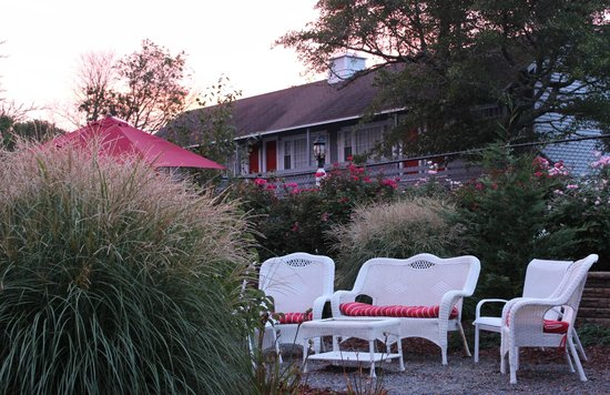 Red Horse Inn - Falmouth: late sunrise in the courtyard