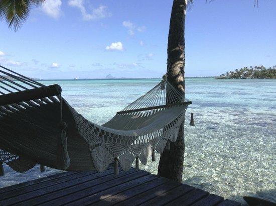 Vahine Island - Private Island Resort: la vue d'un fare plage