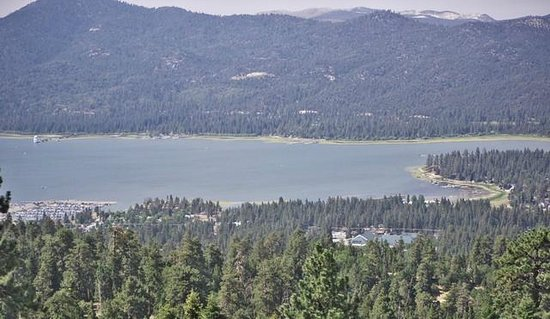 Snow Summit: Bit Bear Lake from a chair lift