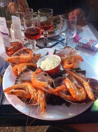 Le Banchera: crevettes avec sa mayo
