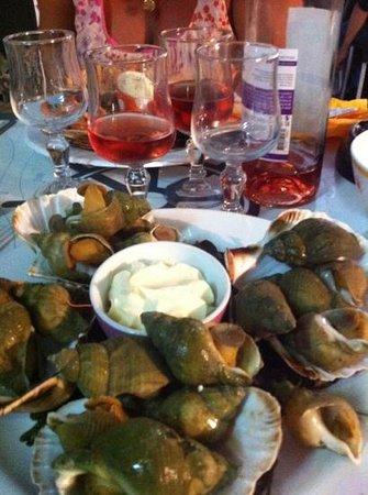 Le Banchera: bulots avec sa mayo