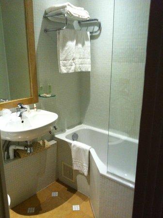 Louvre Piemont Hotel: bagno piccolo ma agibile