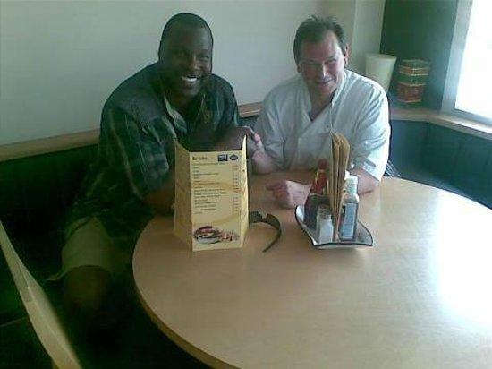 Marlows Fish and Chip Restaurant: Steve Marlow and Tony TNT Tucker