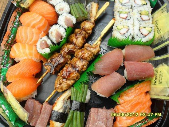 Sushi Master's : un des menus