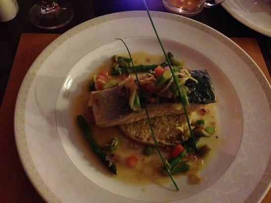 Callander Meadows: Salmon with couscous