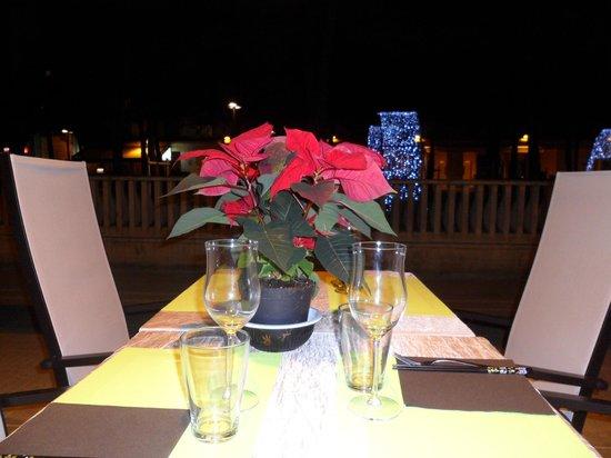 Sushi Master's : Terrasse le soir en hiver