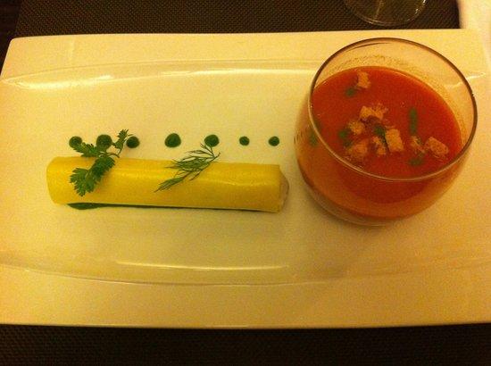 Chez Ospi : Gaspacho et cannelloni
