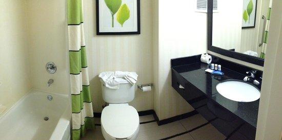 Fairfield Inn & Suites Orlando Lake Buena Vista: Pan. view of bathroom