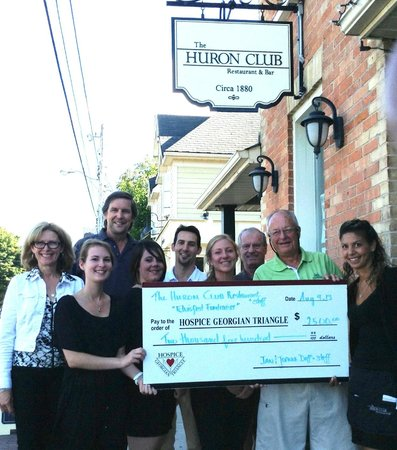The Huron Club: Huron Club Helps Hospice