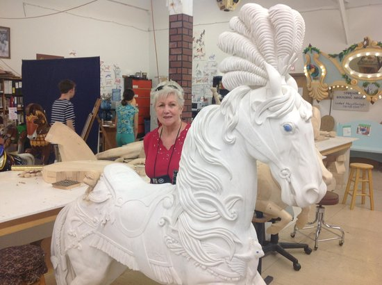 The Historic Carousel and Museum : A dancing horse yet to be painted