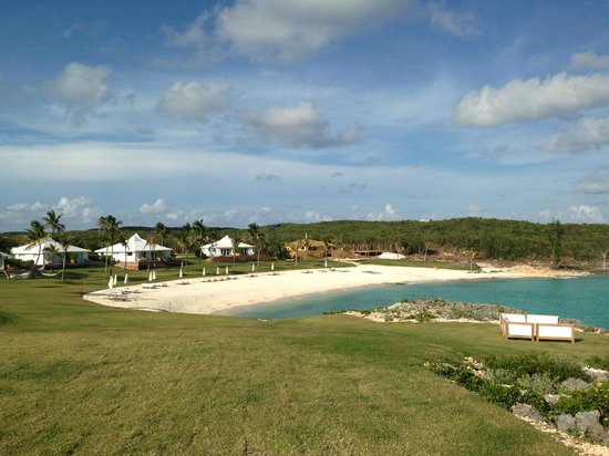 The Cove Eleuthera: The sweep of the hotel from out on the point