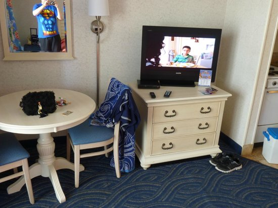 Sanyo TV and Table on Side 1 - Picture of Long Bay Resort, Myrtle
