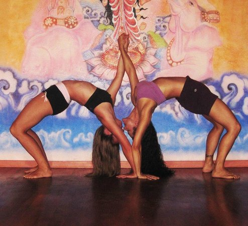 Laura Kay & I, at Bocas Yoga