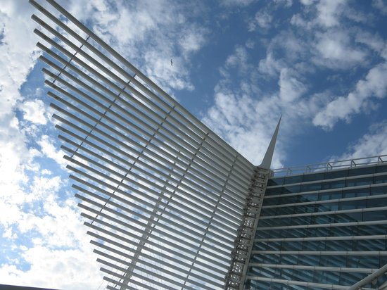 Lakefront Trail: The Brise Soleil on the Milwaukee Art Museum