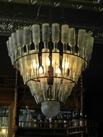 Hotel Jerome, An Auberge Resort : Bottle Chandelier in 'J' Bar