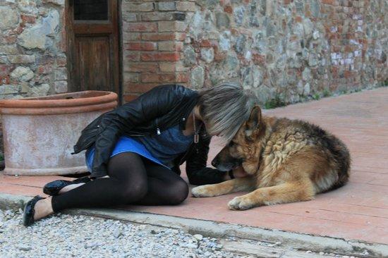 B&B Il Greppo: Paola e il cane Buck