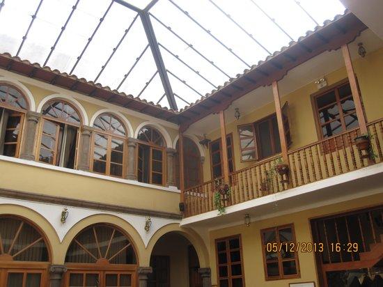 Los Andes De America Hotel: Vista do páteo central.