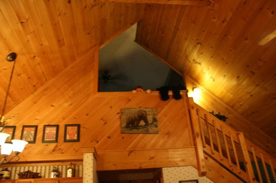 Hidden Mountain Resorts: Our Cabin balcony from the bedroom upstairs