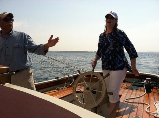 Schooner Lazy Jack: Taking a Turn at the Wheel