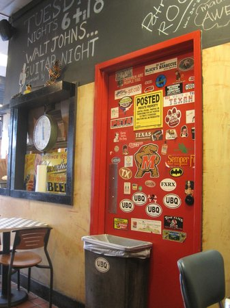 Urban Bar-B-Que: Door with decals!