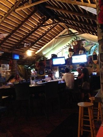 The Hut Bar and Grill: down bar