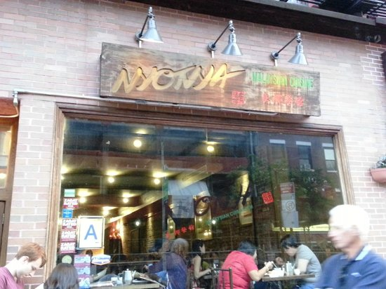 Nyonya: The front of the restaurant.