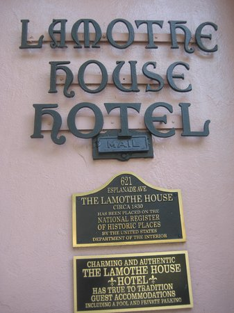 Lamothe House Hotel: Historic info about hotel