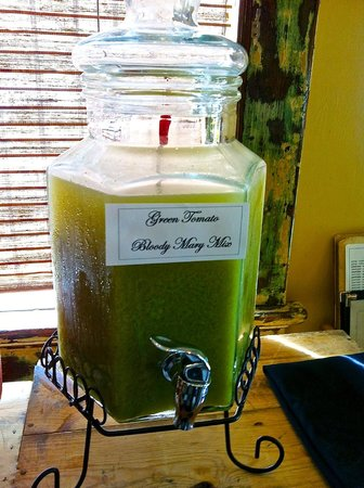Atchafalaya : Green tomato bloody mary mix...zowie
