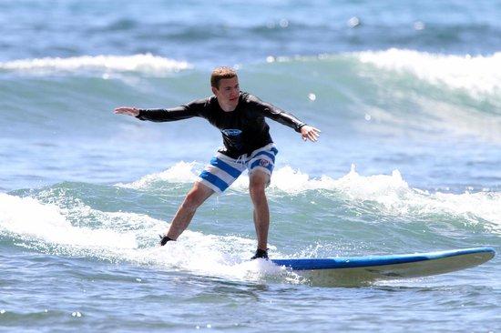 Goofy Foot Surf School, Inc : Andy (aka Crush) drops in a curl.