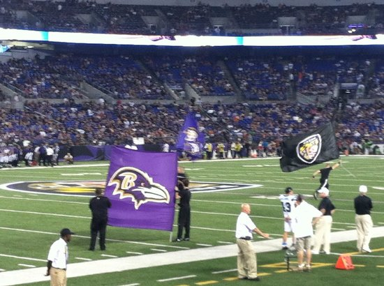 M&T Bank Stadium: Cheerleaders keep the crowd cheering
