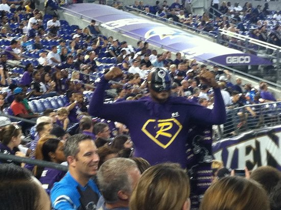 M&T Bank Stadium: There are many enthusiastic fans