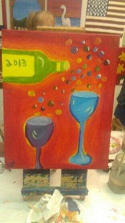 Vino's Picasso: bubbly wine