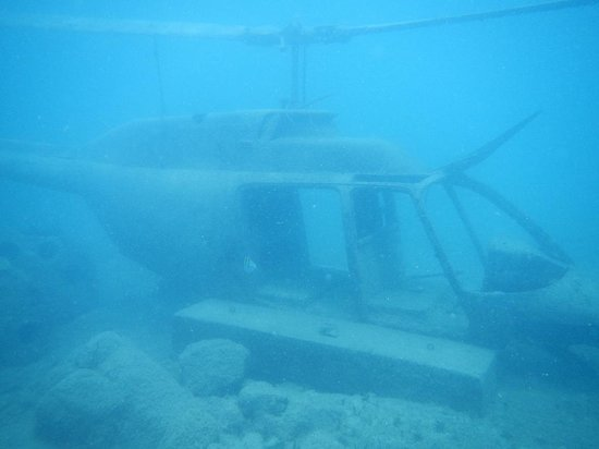 Sunken helicopter - Picture of Sea Trek St  Maarten, Philipsburg