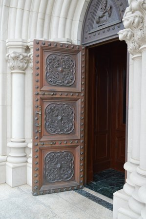 Shrine of the Most Blessed Sacrament: St. Francis door