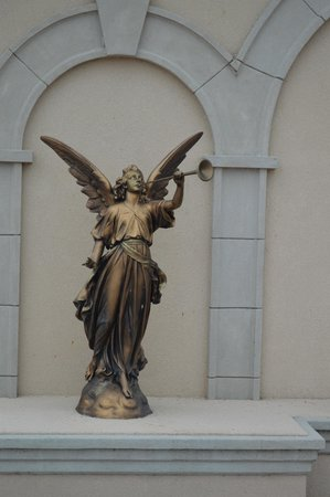 Shrine of the Most Blessed Sacrament: Angel in front of St. Joseph's house