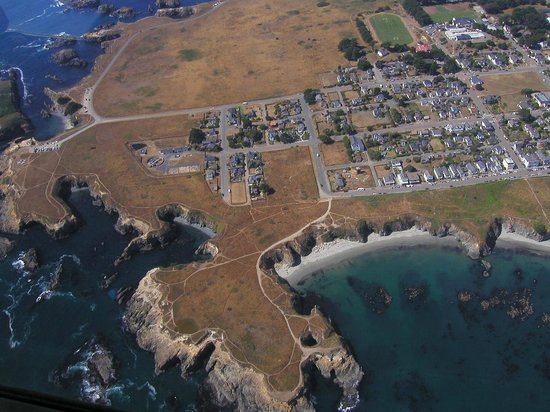 Blanchard House : Aerial view of the Mendocino Headlands State Park