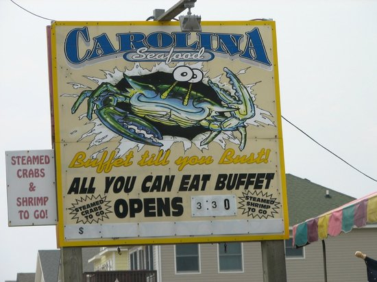 Carolina Seafood: Restaurant Sign