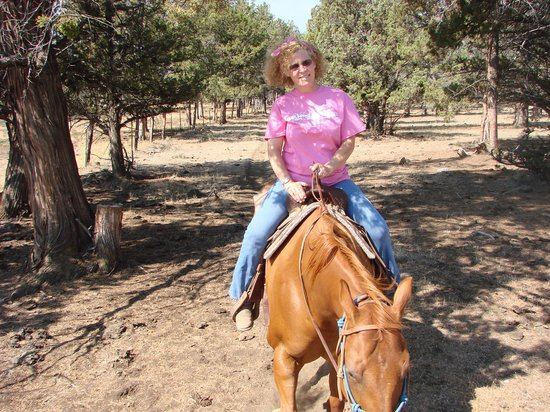 Long Hollow Guest Ranch: Misty and me, yay I didnt fall off!