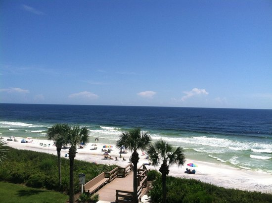 Palms at Seagrove: View of the beach from unit A-12