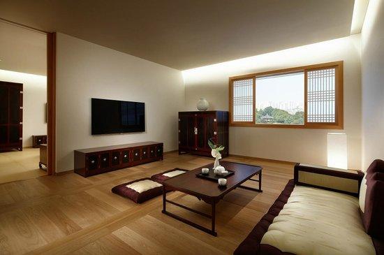 Korean suite living room picture of the shilla seoul for Modern korean living room