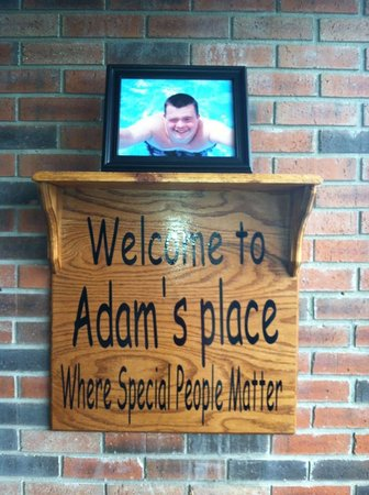 Adam's Place: what you see when you enter the front door