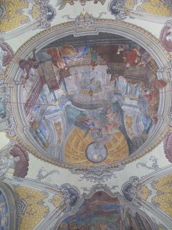 Stadtpfarrkirche St. Egid: Ceiling in Church of St Egyd.