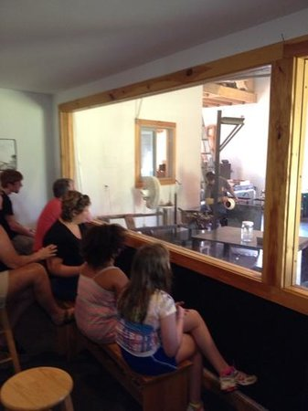 Ziemke Glass Blowing Studio: viewing area